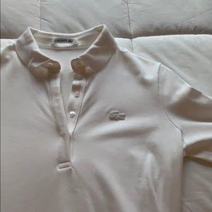White Lacoste Shirt